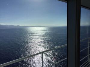 Koningsdam HAL zeezicht vanaf